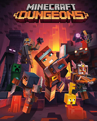 Minecraft Dungeons Cover Art
